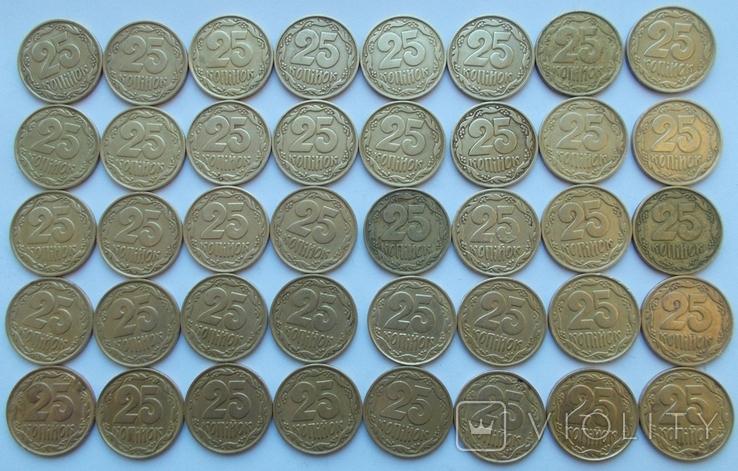 25 копеек 1992 г.  2ВАм, 40 шт. бублики -2, фото №2