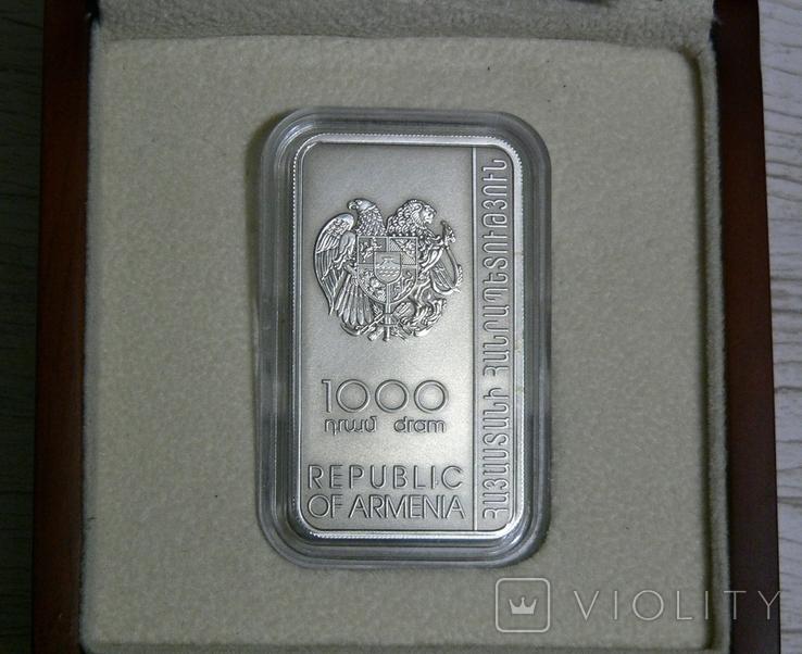 ХАЧКАР (Крест-камень) МОНАСТЫРЯ ГНДЕВАНК - серебро, вставка из мрамора - ПОЛНЫЙ КОМПЛЕКТ, фото №4