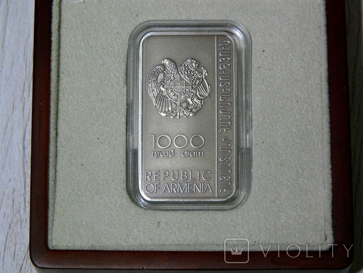 ХАЧКАР (Крест-камень) МОНАСТЫРЯ ГОШАВАНК - серебро, вставка из мрамора - ПОЛНЫЙ КОМПЛЕКТ, фото №4