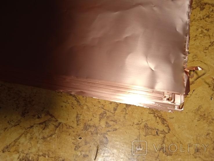 Листовая медь с производства печатных плат времён СССР, фото №4