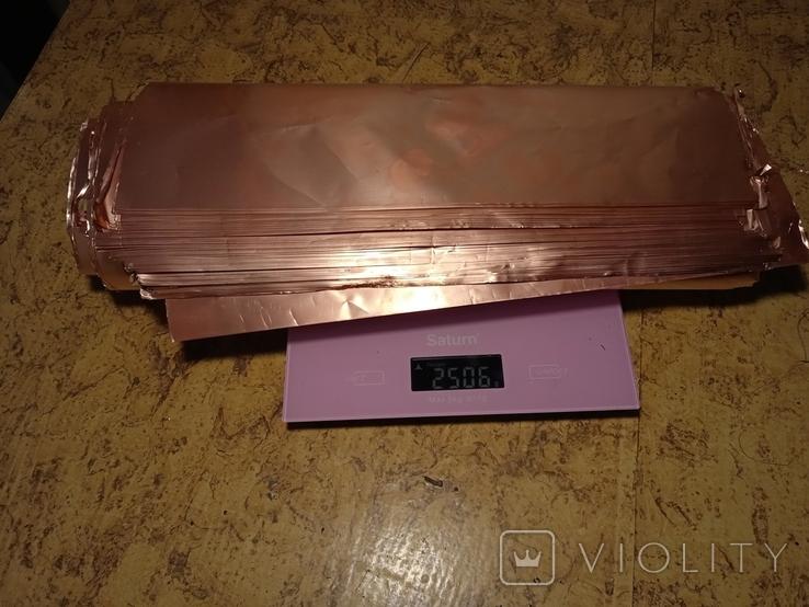 Листовая медь с производства печатных плат времён СССР, фото №11