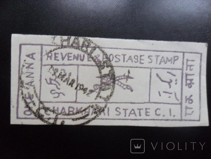 Британские колонии. Индия. Штат Чархари. 1942 г. гаш, фото №2