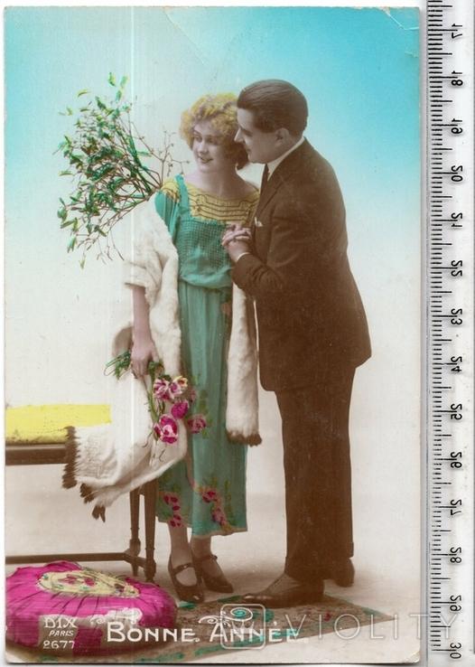 Старинная открытка. 1922 год. Романтика.(3), фото №2