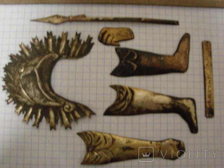 Серебренные старинные накладки, фото №3