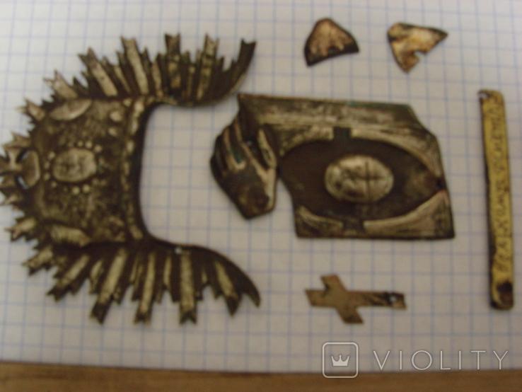 Серебренные старинные накладки, фото №4