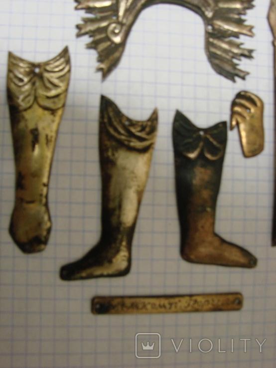 Серебренные старинные накладки, фото №5
