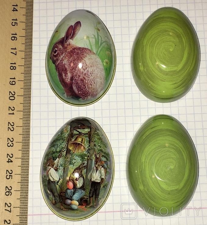 Шкатулка жестяная, пасхальное яйцо, 2 шт., фото №5