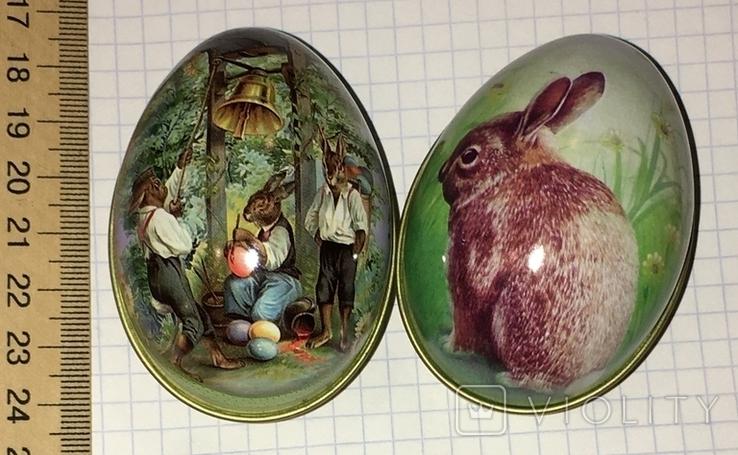Шкатулка жестяная, пасхальное яйцо, 2 шт., фото №6