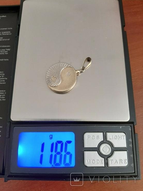 Серебряный лечебная магнитный кулон подвеска Biostabil-2000., фото №3