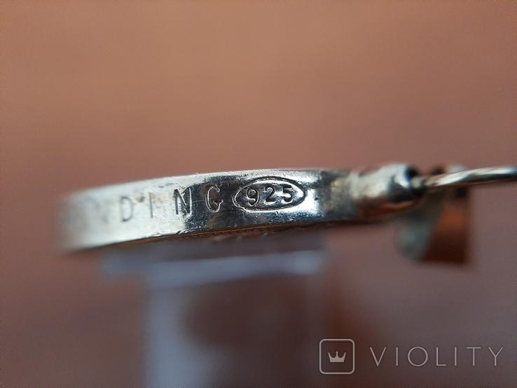 Серебряный лечебная магнитный кулон подвеска Biostabil-2000., фото №6