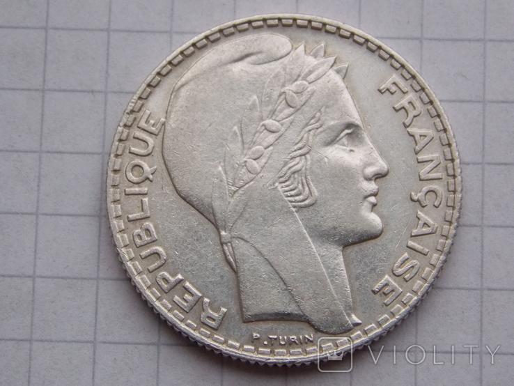 Франция.  10 франков 1933 год. 10 грамм., фото №2