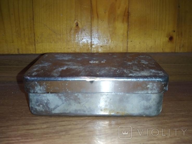 Коробочка латунная никелированая, фото №2