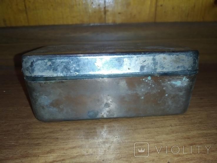 Коробочка латунная никелированая, фото №5