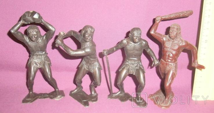 Игрушки Первобытные люди пластиковые фигурки из СССР - 15см., фото №3