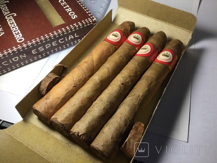 Сигары Куба Maria Guerrero 1965 год коллекционные 4 штуки, фото №9