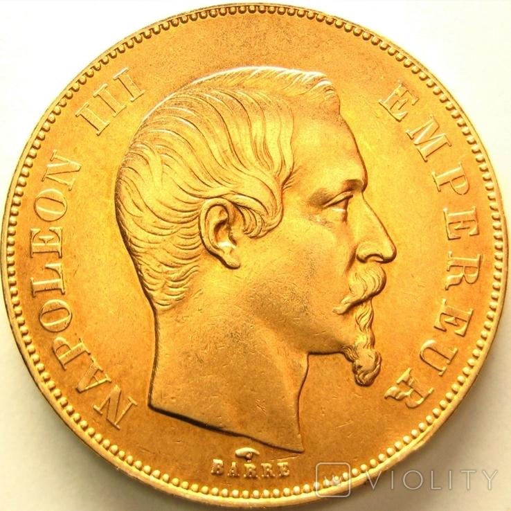 Франция 50 франков 1856 г., фото №2