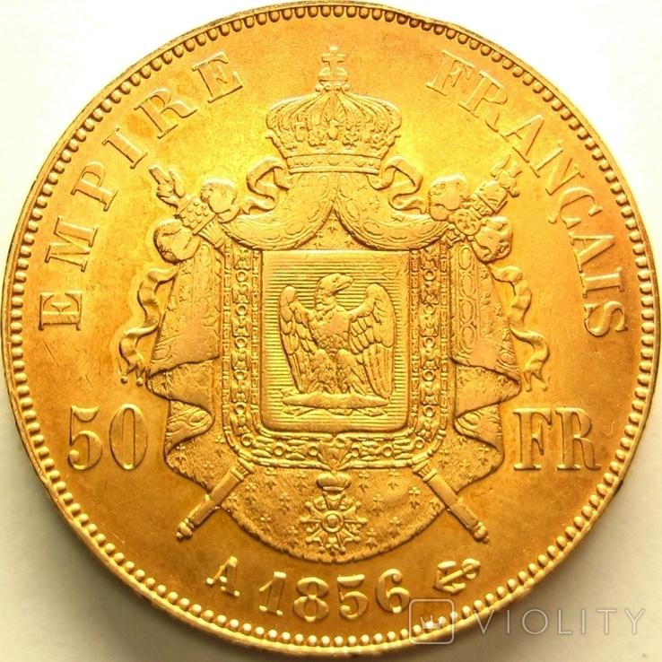 Франция 50 франков 1856 г., фото №3