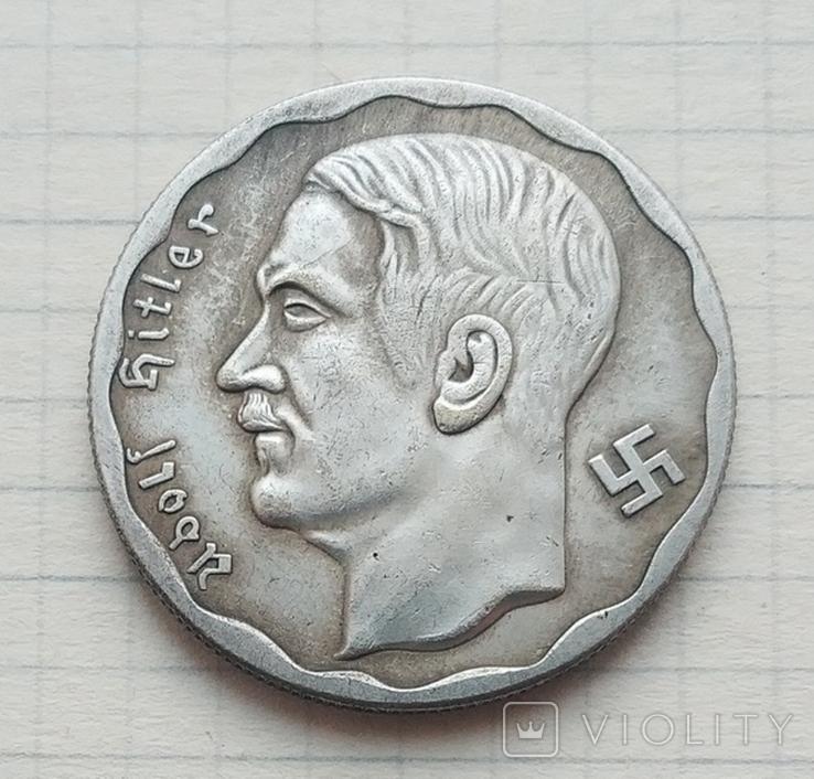 Адольф Гитлер 100 рейхсмарок (копия), фото №2