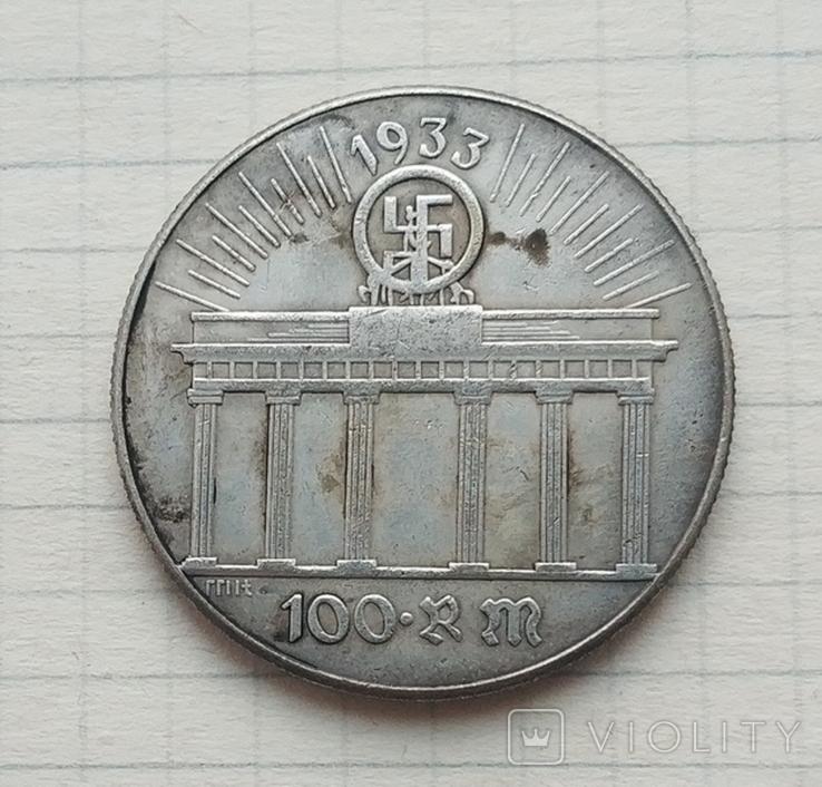 Адольф Гитлер 100 рейхсмарок (копия), фото №3