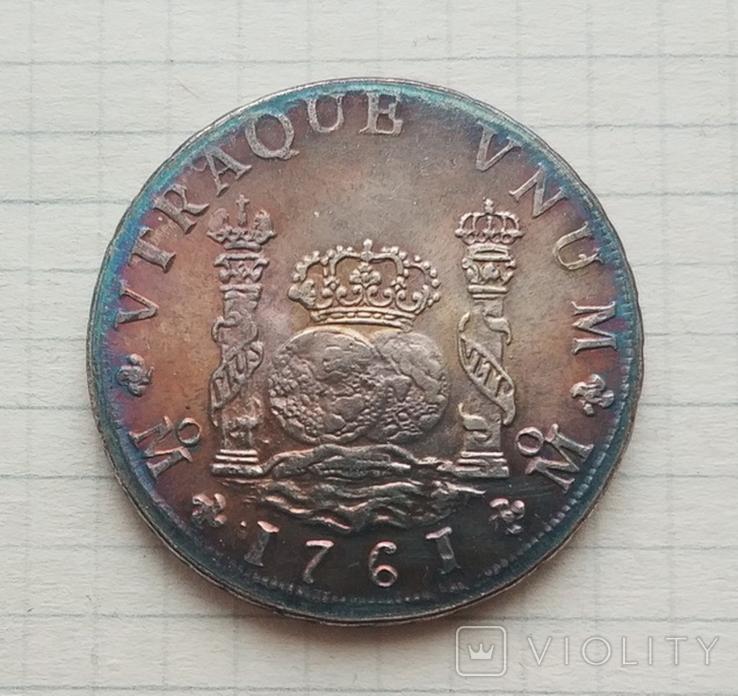 Мексика. 8 реалов 1761 г. Копия, фото №2