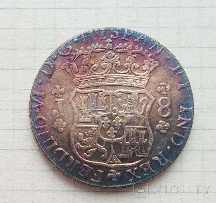 Мексика. 8 реалов 1761 г. Копия, фото №3