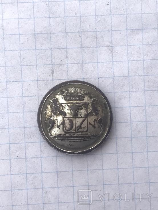 Ливрейная пуговица , герб Дв.Времевых, фото №2