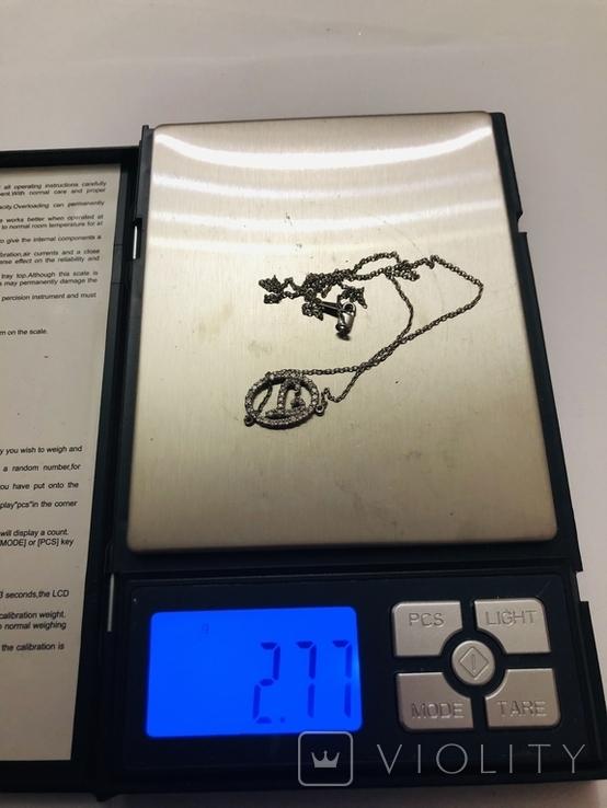 Подвеска Инициал буква от известного бренда Lee Angel серебро 925, фото №10