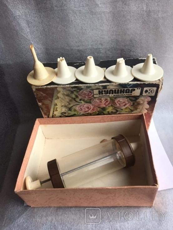 Шприц для кондитеських изделий с насадками, фото №3