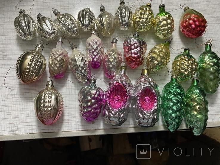 Ялинкові прикраси ссср стекло елечние игрушки, фото №2
