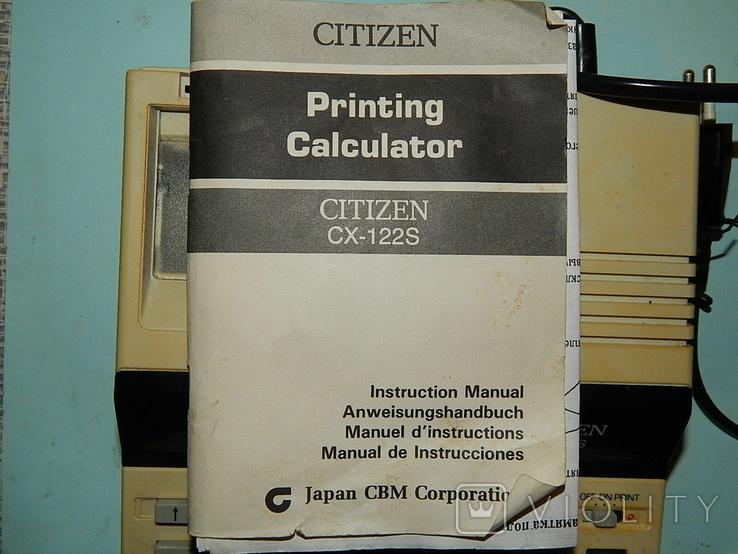 Электрический электронный калькулятор CITIZEN, фото №3