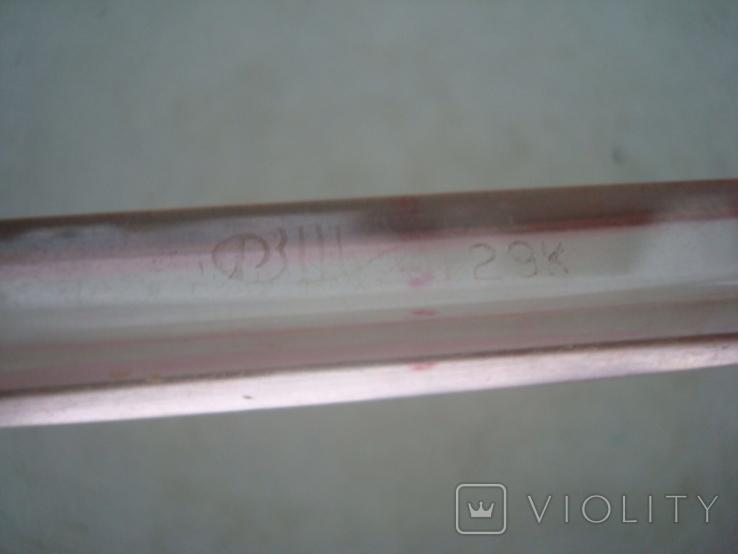 Ручка с чернильным пером СССР орг стекло клеймо, фото №5