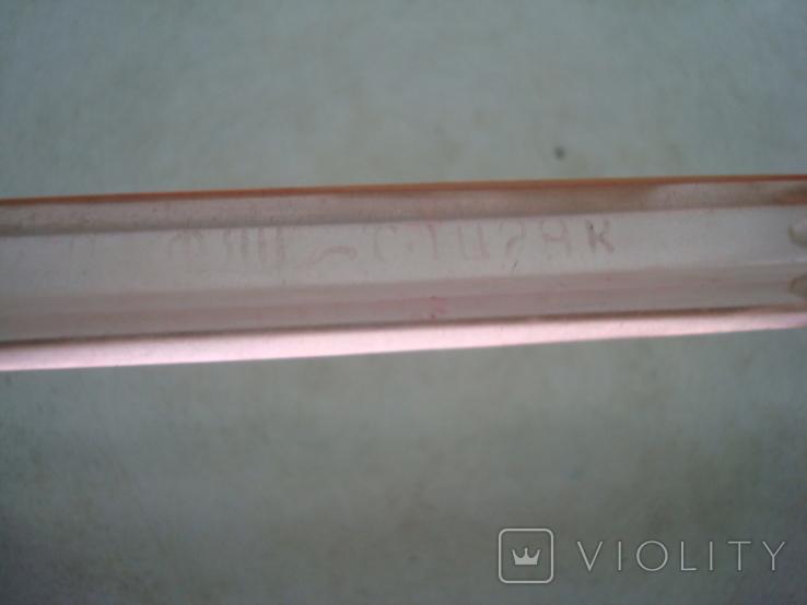 Ручка с чернильным пером СССР орг стекло клеймо, фото №7