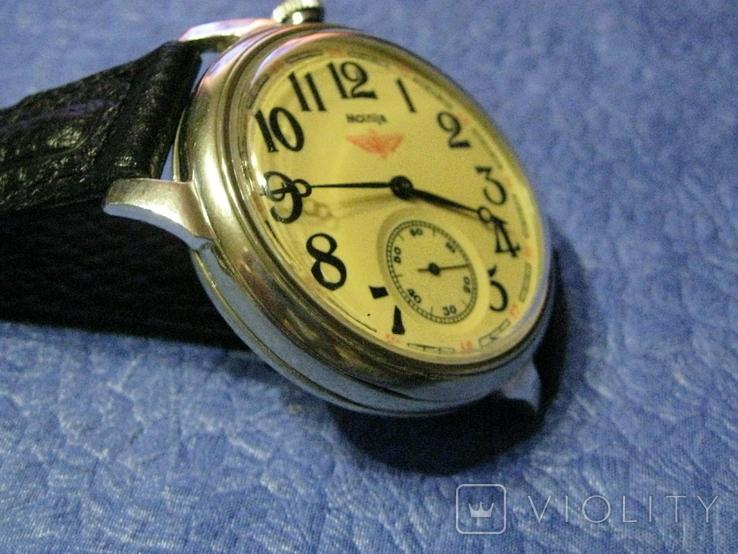 Часы Молния 3602 Паровоз,железнодорожные.Рабочие на ремешке, фото №3
