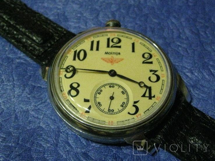 Часы Молния 3602 Паровоз,железнодорожные.Рабочие на ремешке, фото №5