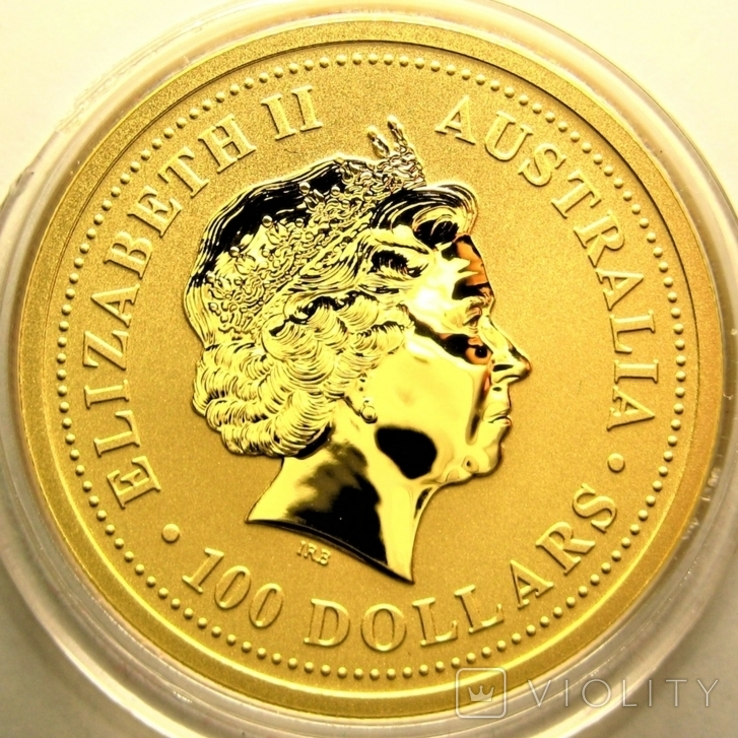 Австралия 100 долларов 2005 г. Год петуха., фото №3