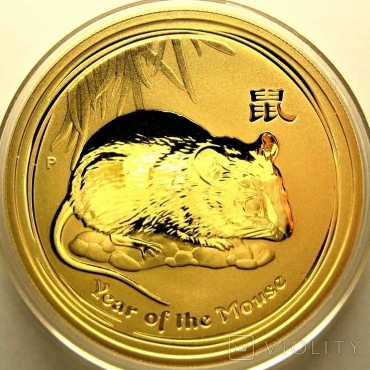 Австралия 100 долларов 2008 г. Год мыши., фото №2