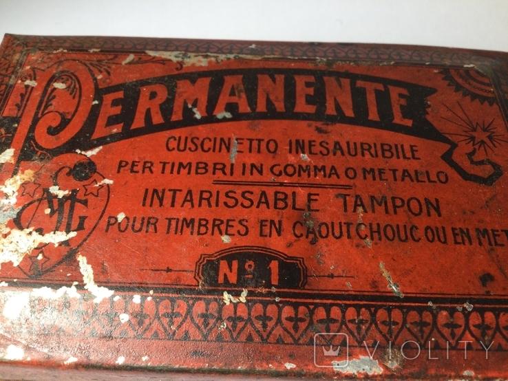 Подушечка для чернильных печатей Италия 1930 винтаж, фото №2