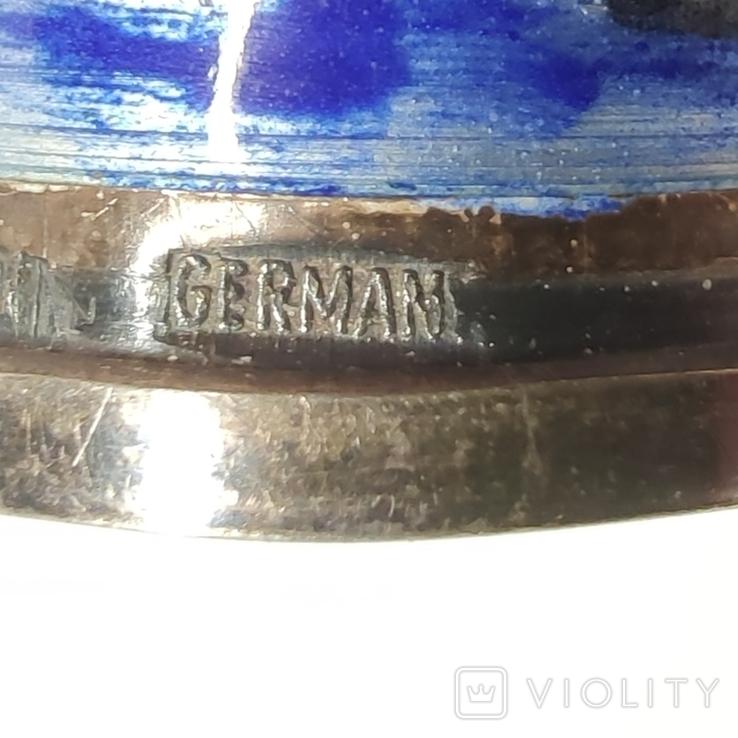 Винтажный серебряный наперсток с эмалями, фото №6