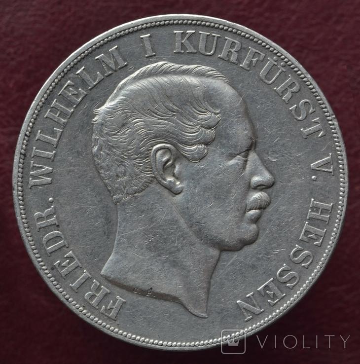 2 Талера Гессен-Кассель. Фридрих Вильгельм I, 1854 год C.P.
