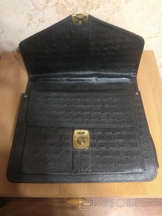 Портфель кожаный, фото №4