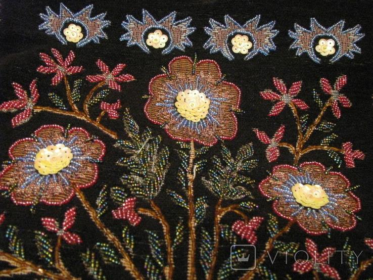 Сумка - гобелен с ручной вышивкой бисером и блёстками., фото №4