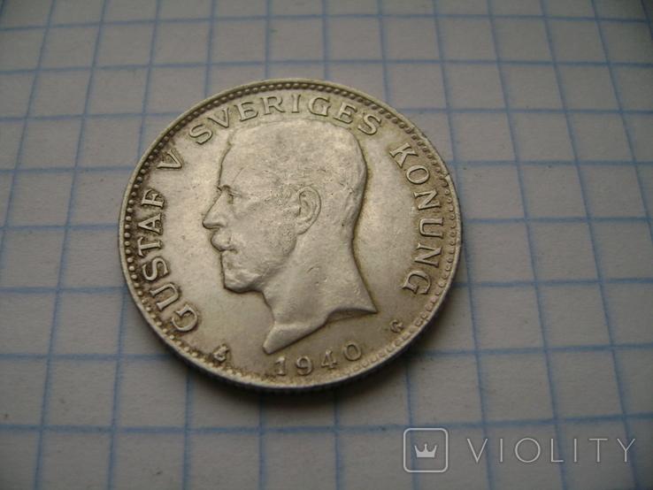 1 крона.Швеция.1940, фото №2