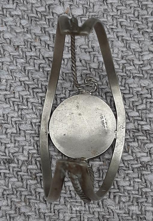 Браслет латунный,вставка перламутр,клеймо, фото №8