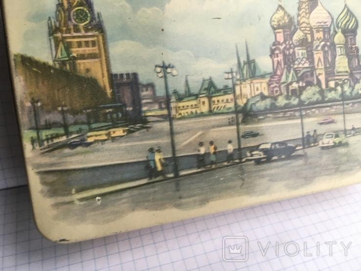 Москва Кремль коробочка из жести 1117см., фото №4