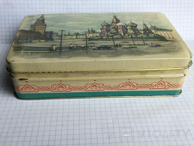 Москва Кремль коробочка из жести 1117см., фото №7