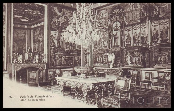 Франция. Дворец Фонтенбло. Салон-приёмная, фото №2
