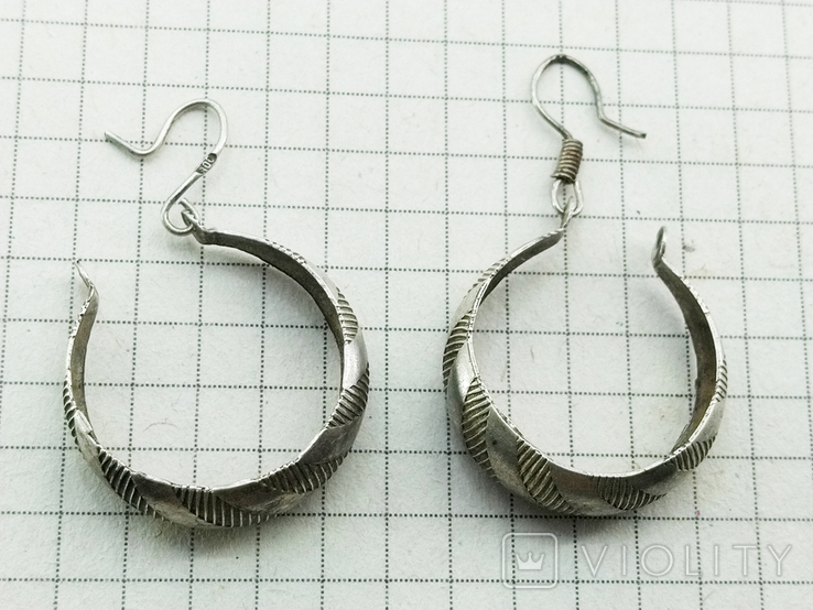 Серьги серебро 800 проба. 3,32 грамм, фото №2