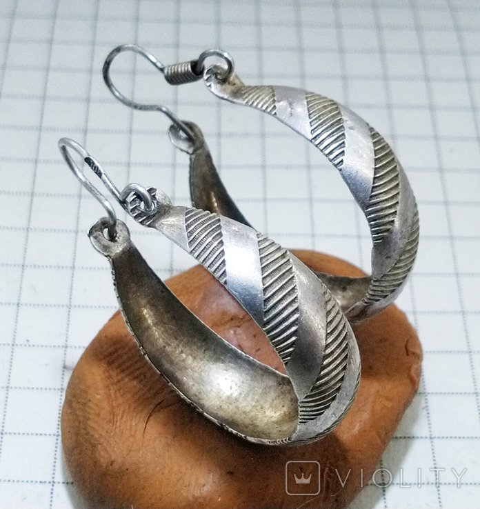 Серьги серебро 800 проба. 3,32 грамм, фото №6