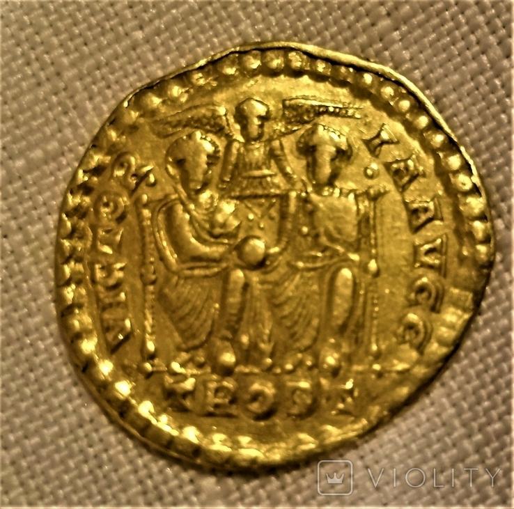 Солід, Римська імперія, імператор Валентиніан I. 364-375 рр. н.е., фото №3