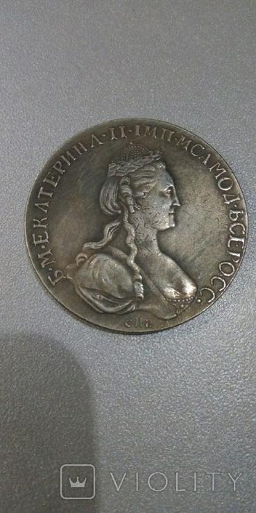 Рубль 1777 года СПБ-ФЛ, копия, фото №2
